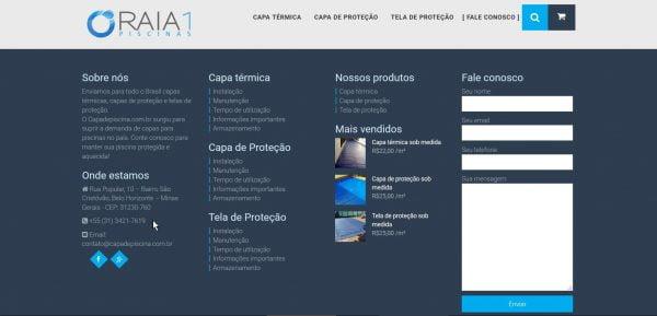 Capa de Piscina - Rodapé
