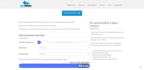 Água Carioca - Calculadora Online